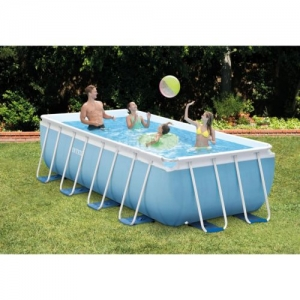 ihocon: Intex 16 Feet x 8 Feet x 42 Inches Prism Frame Rectangular Swimming Pool Set