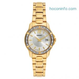 ihocon: Seiko精工 Swarovski Crystals Dress SUR714 Women's Watch
