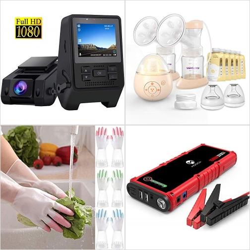 [Amazon折扣碼] 行車記錄器, 電動擠奶器, 廚用手套, 汽車啓動行動電源 額外折扣!