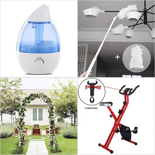 [Amazon折扣碼] 室內加濕器, 長柄雞毛撢子, 花園拱門, 健身腳踏車 額外折扣!