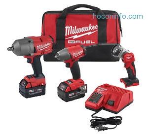 ihocon: Milwaukee 2996-23 Gen 2 M18 Fuel 3 Tool Impact Wrench Auto Kit