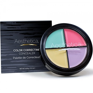 ihocon: Aesthetica Color Correcting Cream Concealer Palette 4色遮瑕盤