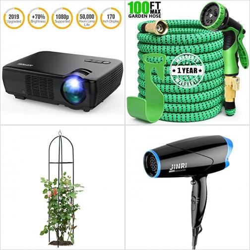 [Amazon折扣碼] 投影機, 伸縮澆花水管, 植物攀爬架, 吹風機 額外折扣!