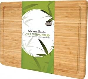 ihocon: Utopia Kitchen Extra Large Bamboo Cutting Board (17 X 12吋) 超大竹菜板