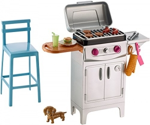 ihocon: Barbie BBQ Grill Furniture & Accessory Set 芭比燒烤爐及配件