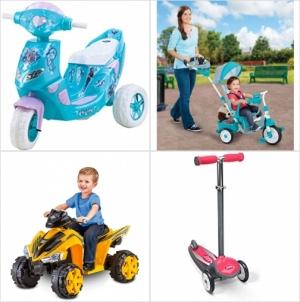 [Amazon今日特賣] 兒童三輪車, 滑板車, 電動車 特賣