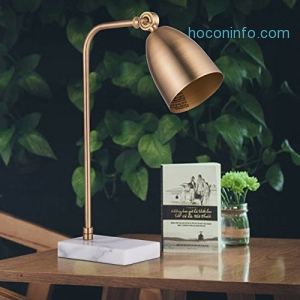 ihocon: CO-Z Modern Metal and Marble Desk Lamp in Antique (Gold)