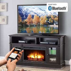 ihocon: Whalen Barston Media Fireplace for TV's up to 70 電視櫃, 內建電壁爐