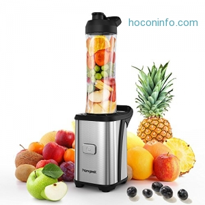 ihocon: Homgeek Personal Mini Blender with Travel Bottle Lid, 600 mL