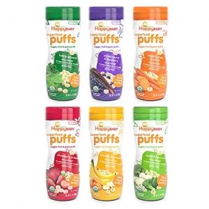 ihocon: Happy Baby Organic Superfood Puffs, Variety Pack, 2.1 Ounce (Pack of 6)有機幼兒點心泡芙