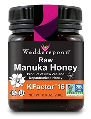 ihocon: Wedderspoon Raw Premium Manuka Honey KFactor 16, 8.8 Oz, Unpasteurized, Genuine New Zealand Honey 紐西蘭麥蘆卡蜂蜜