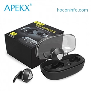 ihocon: APEKX Bluetooth True Wireless Headphones with Mic 真無線麥克風耳機