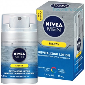 ihocon: NIVEA Men Energy Lotion Broad Spectrum SPF 15 Sunscreen 1.7 Fluid Ounce
