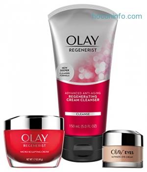 ihocon: Olay Anti-Aging Skincare Kit with Regenerist Cleanser, Moisturizer & Eye Cream