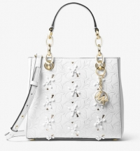 ihocon: MICHAEL MICHAEL KORS Cynthia Small Floral Embroidered Leather Satchel