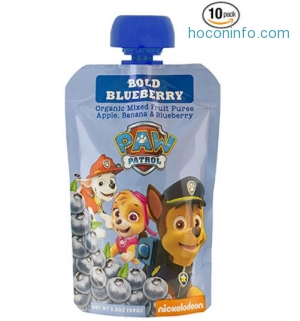 ihocon: PAW Patrol Bold Blueberry Organic Mixed Fruit Pouch, 3.5oz (Pack of 10)