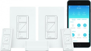 ihocon: Lutron P-BDG-PKG2W-A Caseta Wireless Smart Lighting Deluxe Starter Kit (White)無線智能居家照明調光開關