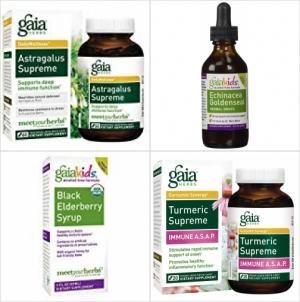 ihocon: Gaia Herbs Turmeric Supreme Immune A.S.A.P, Vegan Liquid Capsules, 20 Count薑黃膠囊