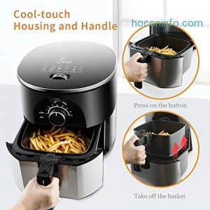 ihocon: JESE Hot Airfryer with Smart Time & Temperature Control, 3.5 Qt氣炸鍋