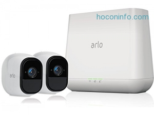 ihocon: Arlo Pro by NETGEAR Security System with Siren (VMS4230) – 2 Rechargeable Wire-Free HD Cameras with Audio, Indoor/Outdoor, Night Vision (Certified Refurbished)