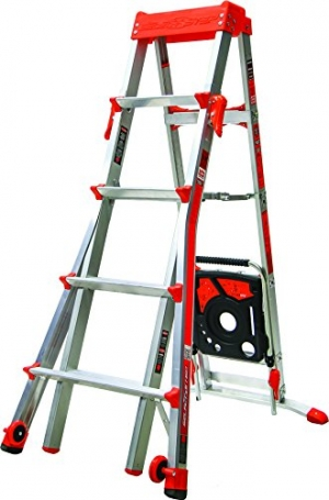 ihocon: Select Step 5-Feet to 8-Feet 300-Pound Duty Rating Adjustable Step ladder