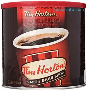 ihocon: Tim Hortons 100% Arabica Medium Roast Original Blend Ground Coffee, 32.8 Ounce