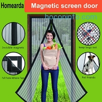ihocon: Homearda Magnetic Screen Door磁性紗門, Fits Door Up To 34x82 Inch