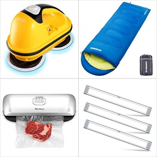 [Amazon折扣碼] 電動打磨機, 輕便睡袋, 食物真空機, 光線微調LED燈 額外折扣!