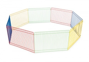 ihocon: Prevue Pet Products Multi-Color Small Pet Playpen 40090寵物圍欄