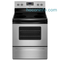 ihocon: Whirlpool 5.3 cu. ft. Electric Range with Self-Cleaning Oven in Silver with SteamClean Option