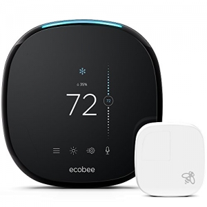 ihocon: ecobee4 Smart Thermostat with Built-In Alexa, Room Sensor Included 智能溫控器