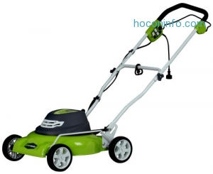 ihocon: Greenworks 18-Inch 12 Amp Corded Lawn Mower 25012 電動除草機
