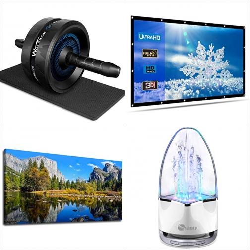 [Amazon折扣碼] 運動滾輪及膝墊, 120吋投影機螢幕, Yosemite優勝美地Canvas, 藍芽無線水舞Speaker 額外折扣!