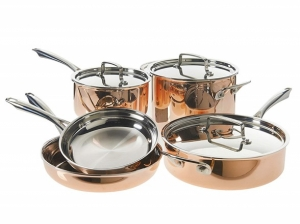 ihocon: Cuisinart Copper Cookware Set, 8 Piece
