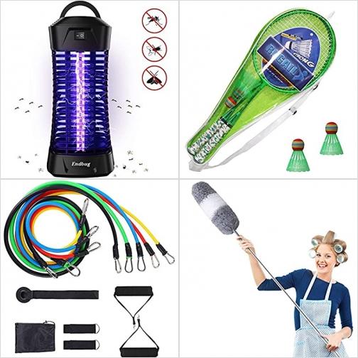 [Amazon折扣碼] 室內電蚊/蟲燈, 兒童羽毛球拍, 彈性健身帶, 長柄除塵刷 額外折扣!