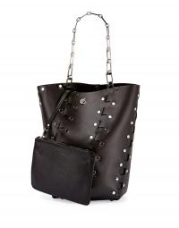 ihocon: Proenza Schouler Hex Medium Studded Leather Bucket Bag包包