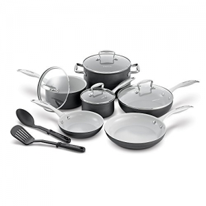 ihocon: GreenLife Hard Anodized Ceramic Nonstick Cookware set, 12-Piece 陶磁不沾鍋組