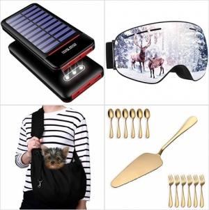 [Amazon折扣碼] 太陽能行動電源, 滑雪護目鏡, 寵物攜帶包, 蛋糕鏟及刀叉組 額外折扣!