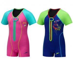 ihocon: Speedo Kids UPF 50+ Begin to Swim Thermal Swimsuit 兒童連身保暖泳衣