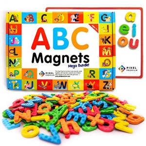 ihocon: Pixel Premium ABC Magnets for Kids Gift Set磁性英文字母學習組