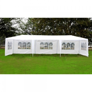 ihocon: MCombo 10'x30' White Canopy Party Outdoor Gazebo Wedding Tent 5 Removable Walls