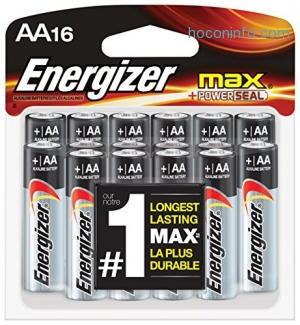 ihocon: Energizer AA Batteries, Max Alkaline (16 Count)