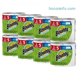 ihocon: Bounty Quick-Size Paper Towels, 16 Family Rolls, White