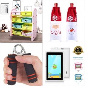 [Amazon折扣碼] 兒童玩具收納架, 聖誕酒袋, 握力增強器, 兒童護眼遊戲學習Tablet 額外折扣!