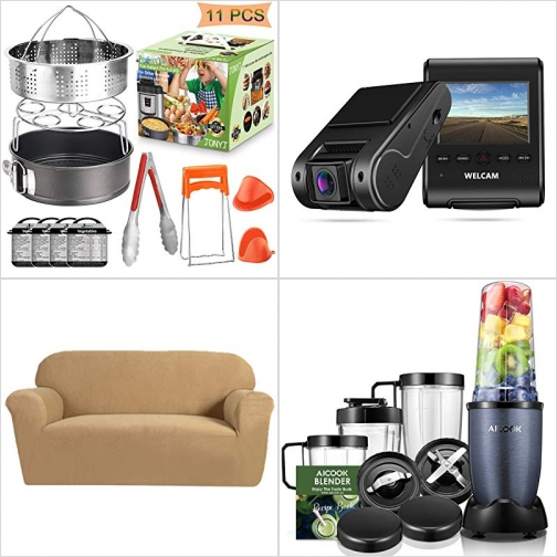 [Amazon折扣碼] Instant Pot 配件, 行車記錄器, 2人座沙發套, 高速Blender/Mixer 額外折扣!
