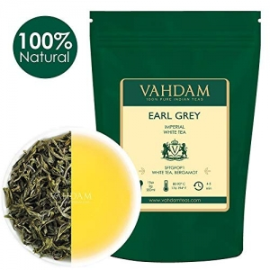 ihocon: VAHDAM Earl Grey Imperial White Tea Loose Leaf (25 Cups), 1.76oz ,伯爵茶葉