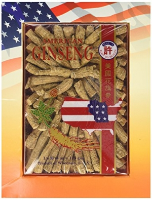 ihocon: Hsu's Ginseng SKU 122-4 | Medium Prong | Cultivated American Ginseng from Marathon County, Wisconsin USA 許氏花旗蔘/西洋蔘