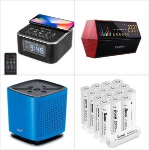 Amazon: 鬧鐘/藍芽Speaker, 充電電池 額外折扣!