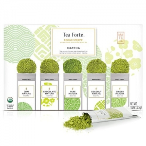 ihocon: Tea Forté SINGLE STEEPS Organic Matcha Powder, 15 Single Serve Pouches 有機抹茶粉