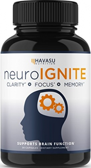 ihocon: Havasu Nutrition Extra Strength Brain Supplement for Focus, Energy, Memory & Clarity - Mental Performance Nootropic With Super Ginkgo Biloba 營養額外力量腦補充劑,用於聚焦,能量,記憶和清潔 - 心理表現與超級銀杏葉